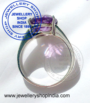 Amethyst Birthstone Ring for Woman in Silver