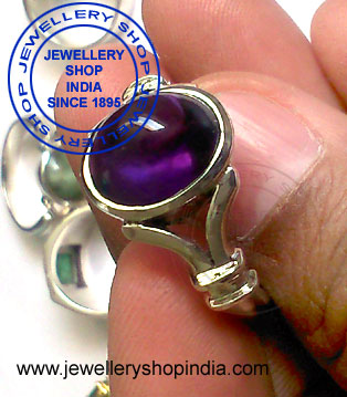 Amethyst Ring Design for Gents in Silver