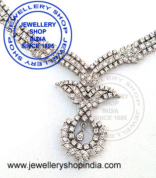 Natural diamonds necklace designs for ladies.