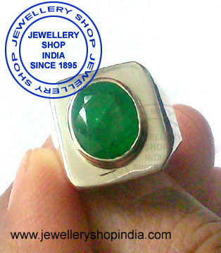 Emerald Birthstone Ring for Man