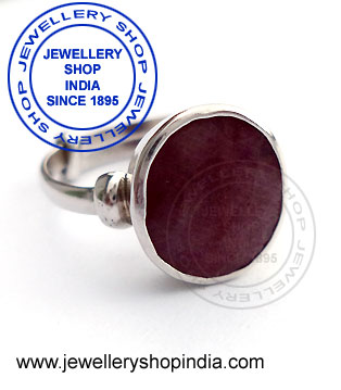 Gents Ring Designs in Ruby Gemstone
