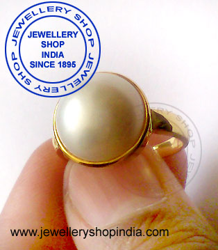 Pearl Ring Design for Women in Gold