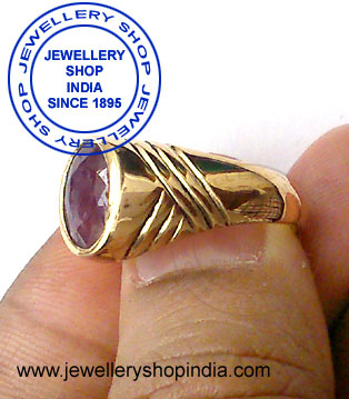 Hessonite Stone Birth Stone Ring Design in Panch Dhatu for Man