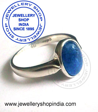 Neelam Birthstone Ring for Woman in Silver