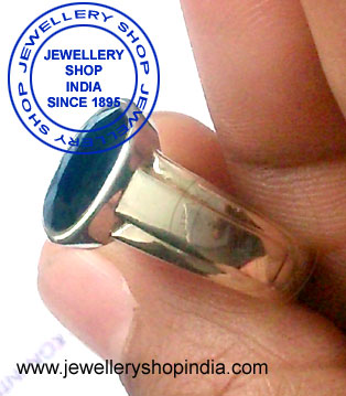 Blue Sapphire Birthstone Ring for Man