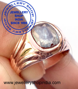 White Sapphire Ring for Men