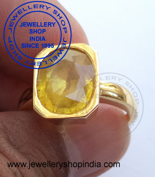 Yellow Sapphire Ring for Men