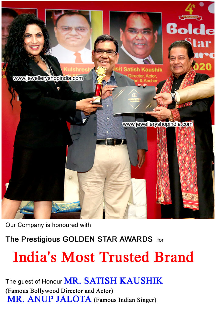 Award Satish Kaushik and Anup Jalota Delhi for India's Most Trusted Brand in Gemstones