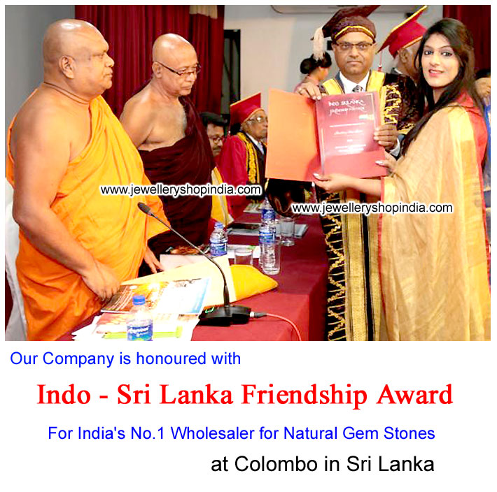 Indo Sri Lanka Friendship Award 2018 for India's No-1 wholesaler for Natural Gemstones