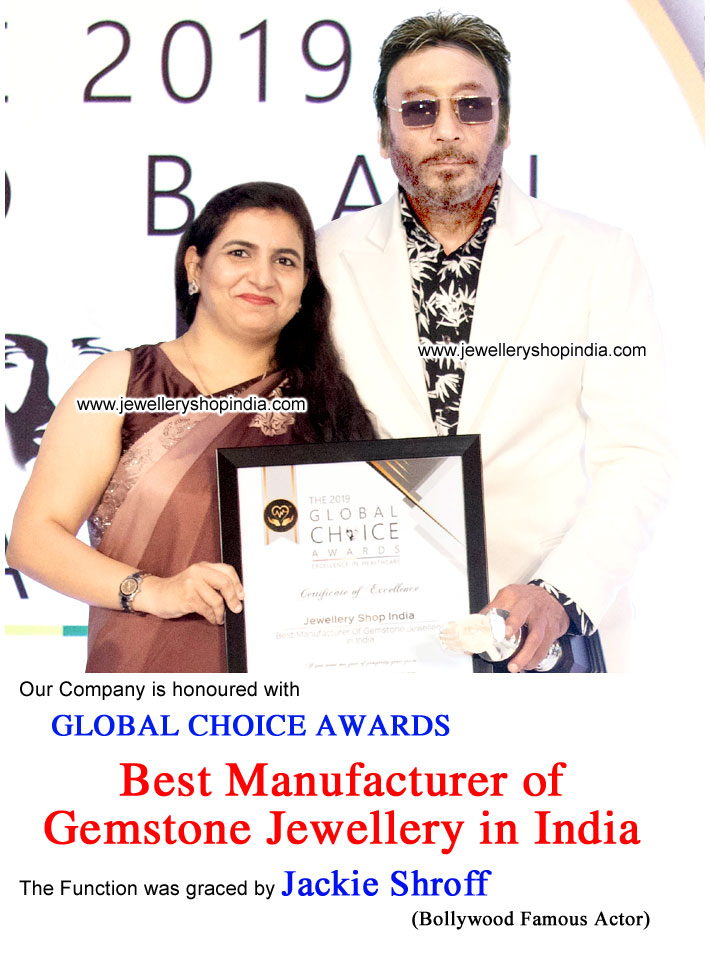 Global Choice Award Best Manufacturer of Gemstone Jewellery in India