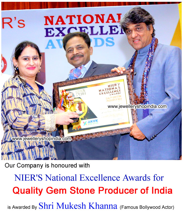 Jewellery Shop India awarded by National Excellence Awards by Mukesh Khanna Famous Bollywood Actor