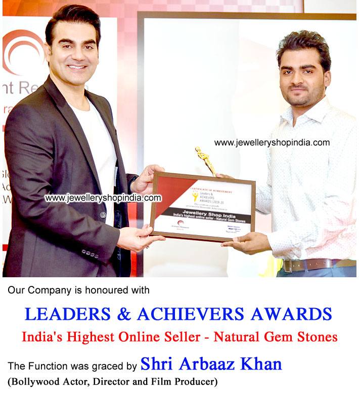 LEADERS & ACHIEVERS AWARDS for India's Highest Online Seller of Natural Gem Stones