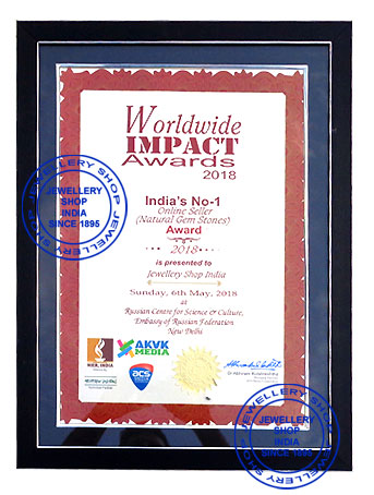 Jewellery Shop India worldwide impact award 2018